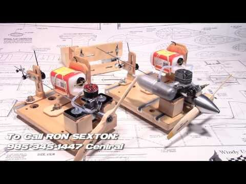 RC and Control Line Engine Test Stands, Gas or Glow Fuel