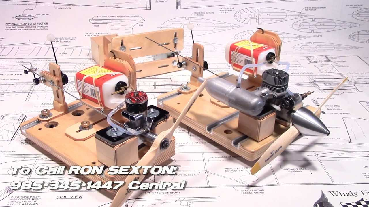 Rc And Control Line Engine Test Stands Gas Or Glow Fuel