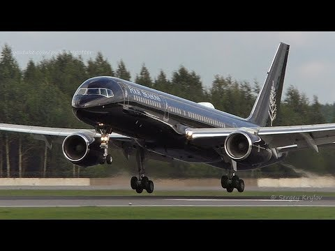 Gorgeous VIP Boeing 757-200 G-TCSX of 'Four Seasons' makes neat landing at Saint Petersburg airport.