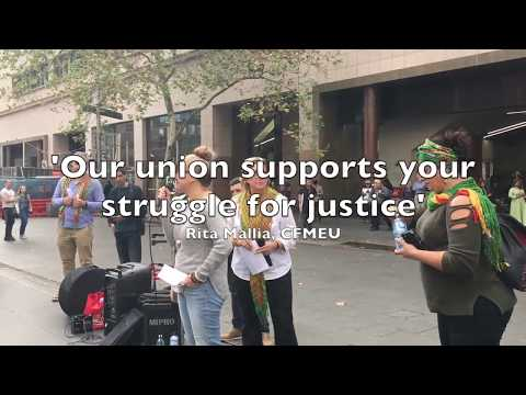 Union solidarity for Afrin