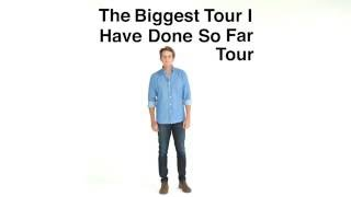 Video-Ben Rector - The Biggest Tour I Have Done So Far. Tour Announcement