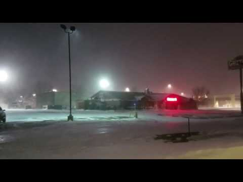 Winter Storm Hits Jamestown 12/06/2016