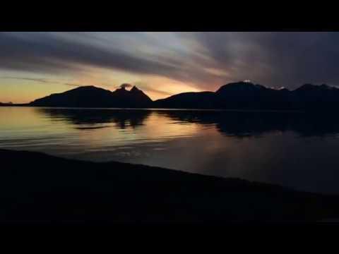 Midnight Sun in Steigen Northern Norway 30 june 2020.