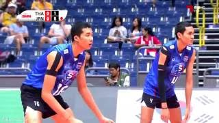 Thailand vs Japan | 13 July 2016 | 18th Asian Men's U20 Volleyball Championship