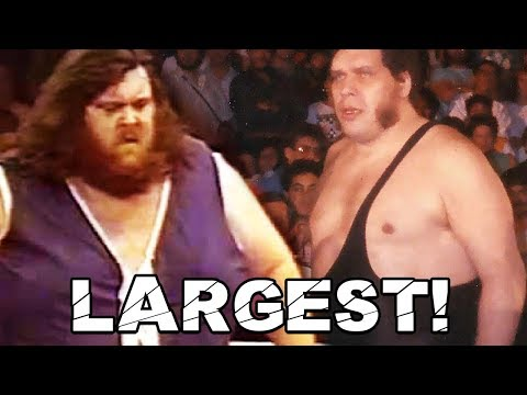 Andre The Giant vs Giant Haystacks - World's Largest Athlete!
