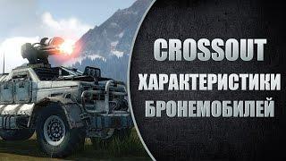 Crossout ГАЙД - характеристики бронемобилей (тачек)