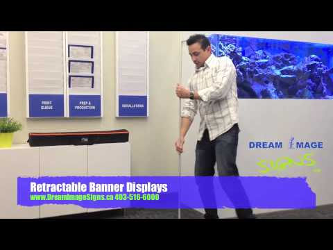 Retractable Banner Display Stands Canada Calgary
