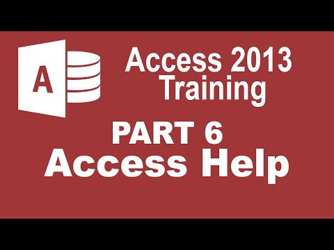 Access 2013 for Beginners Part 6: How to Use Access Help