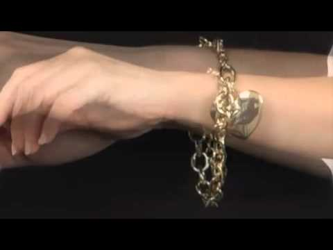 GUESS Leopard Heart Charm Bracelet SKU:#8016857