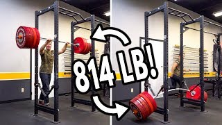DROPPING 800+ LB BAR on SQUAT RACK Safety Straps TEST!!
