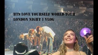 BTS LONDON VLOG | Night One | Standing PIT!! Love Yourself World Tour