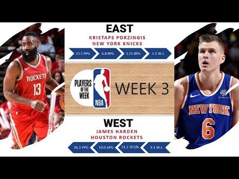 Kristaps Porzingis, James Harden SHOW OUT in Week 3 | NBA Players of the Week