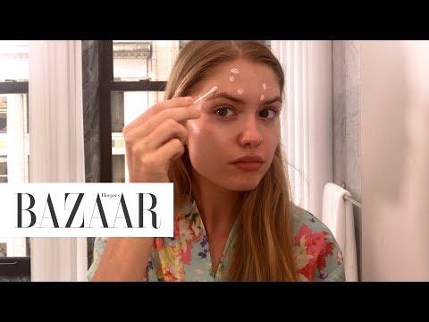 Model Alexandria Morgan's Nighttime Routine | Harper's BAZAAR