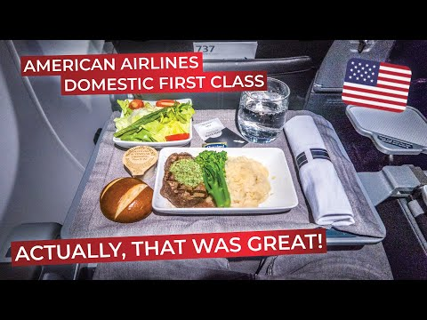 BRUTALLY HONEST Review Of American Airlines DOMESTIC FIRST CLASS On The Boeing 737-800!