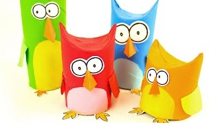 DIY Owl Family | Toilet Paper Roll Craft Ideas on BoxYourself