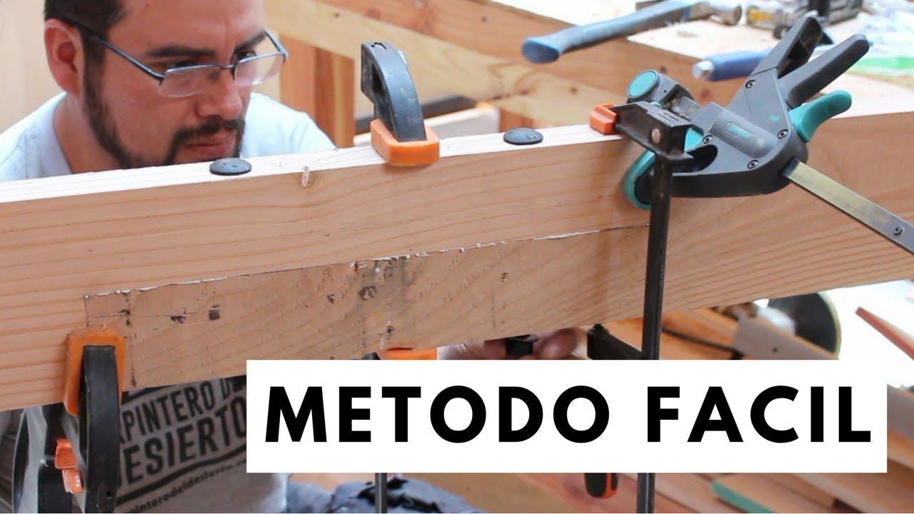 Como unir e instalar vigas de madera youtube - Vigas falsas de madera ...