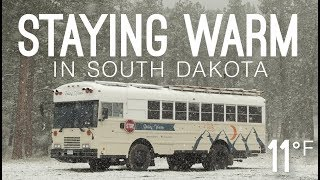 Stuck in South Dakota | Staying Warm With a Wood Stove