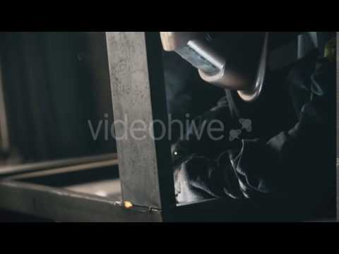 Welding In Metal Industry. A Factory Worker - Stock Footage | VideoHive 13847468