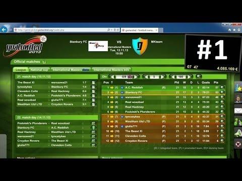 GOAL UNITED - FREE FOOTBALL MANAGEMENT GAME - UK COMMENTARY- #1