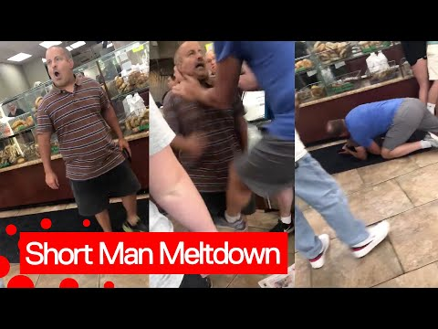Man has an epic meltdown in a NYC bagel shop.