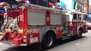 FDNY ENGINE 26 ON WAY BACK TO HOUSE FROM CALL NEAR W. 44TH ST. & 7TH AVE. IN MIDTOWN, MANHATTAN.