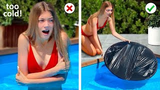 SIMPLE POOL HACKS AND DIY IDEAS! Outfit DIY and  Fashion Life Hacks