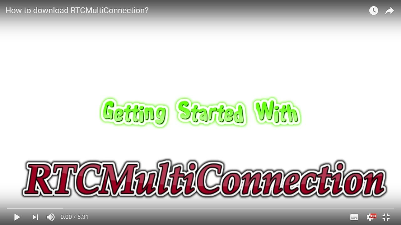 How to download RTCMultiConnection? by Muaz Khan