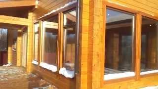 деревянные окна в доме из клееного бруса(деревянные окна в деревянном доме заказать http://artdivina.ru., 2015-04-03T13:07:34.000Z)