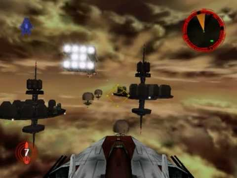 Star Wars Rogue Squadron mission 11 Battle above Taloraan A Wing |