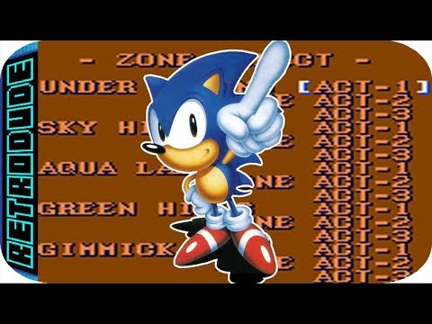 Sonic The Hedgehog 2 Game Gear Level Select Cheat Youtube