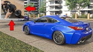 Lexus RC-F Steering Wheel Gameplay | Forza Horizon 3 Racer V8