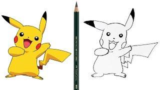 Cara Menggambar Pikachu (Pokemon) untuk pemula