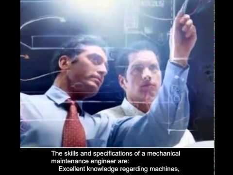 Mechanical Maintenance Engineer Skills And Specifications