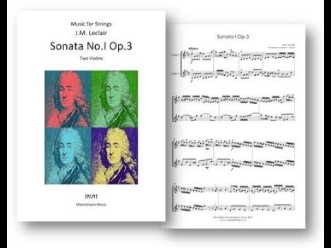 Leclair - Sonata No I Op 3
