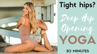 Tight hips? Yoga for Deep Hip Opening + Relaxing Meditation for Sleep | 20 Minutes