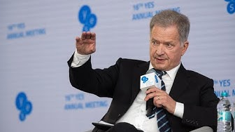 YES2019. Sauli Niinistö, President of the Republic of Finland. Speech and Q&A