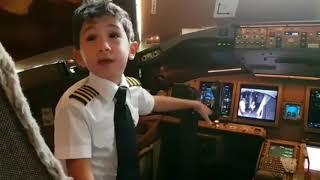 Adam Kid 6-Year Pilot Emirates Airbus