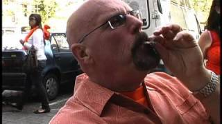 Big D drinks, smokes, eats a space cake and has laughing gas in Amsterdam on Queens Day