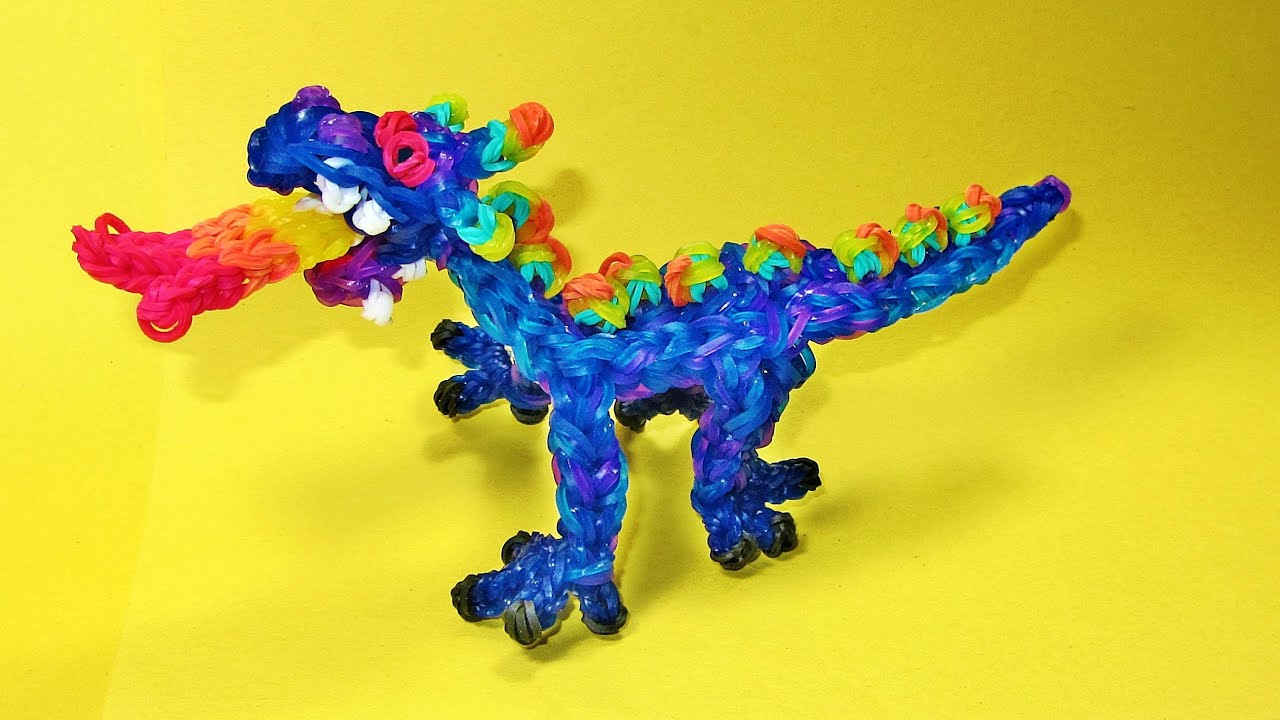 Bevorzugt Rainbow Loom DRAGON Charm (Fire Breathing) - DIY Mommy - YouTube MM94