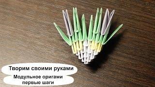 Модульное оригами для начинающих. С чего начать, как сделать? Пошаговая видео инструкция
