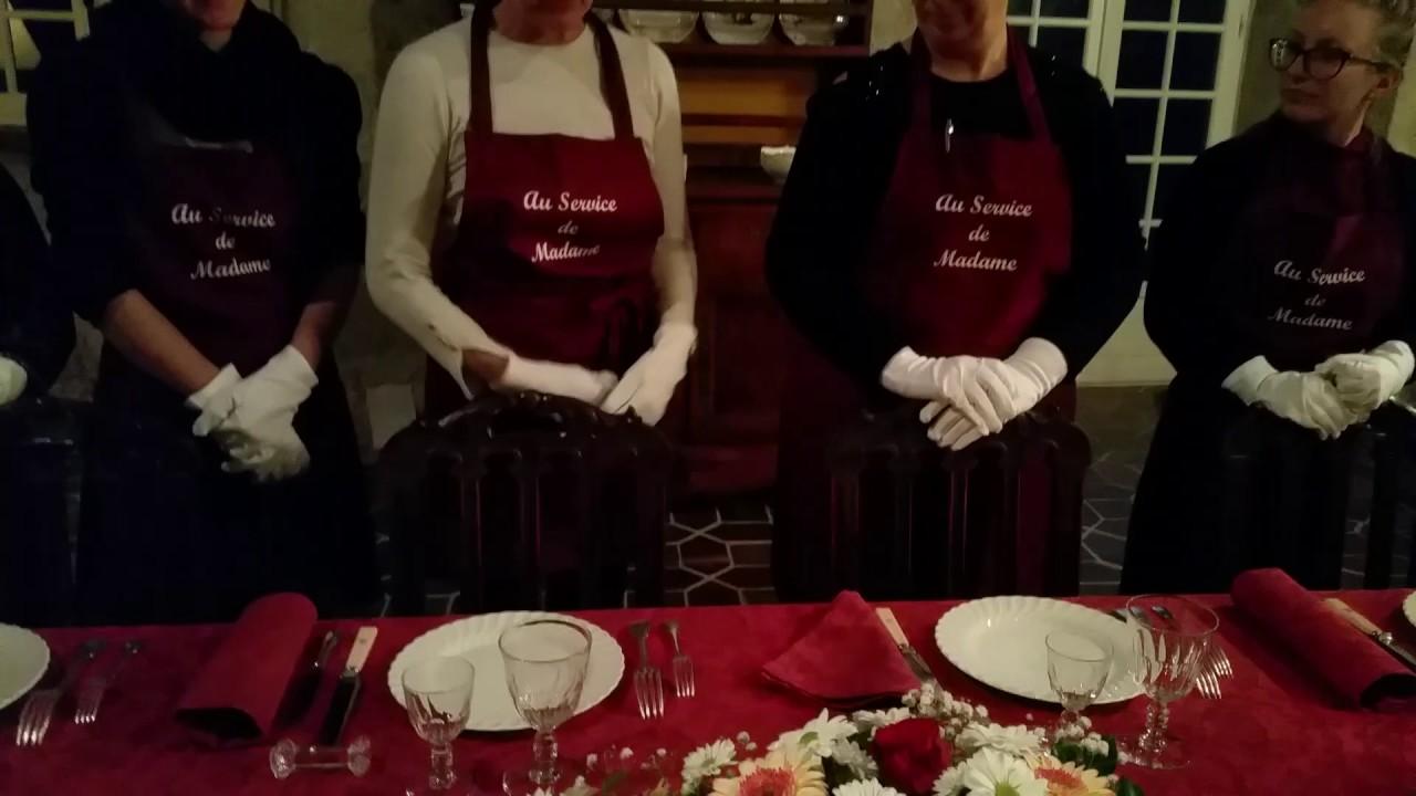 vido dressage de la table la franaise - Dressage De Table A La Francaise