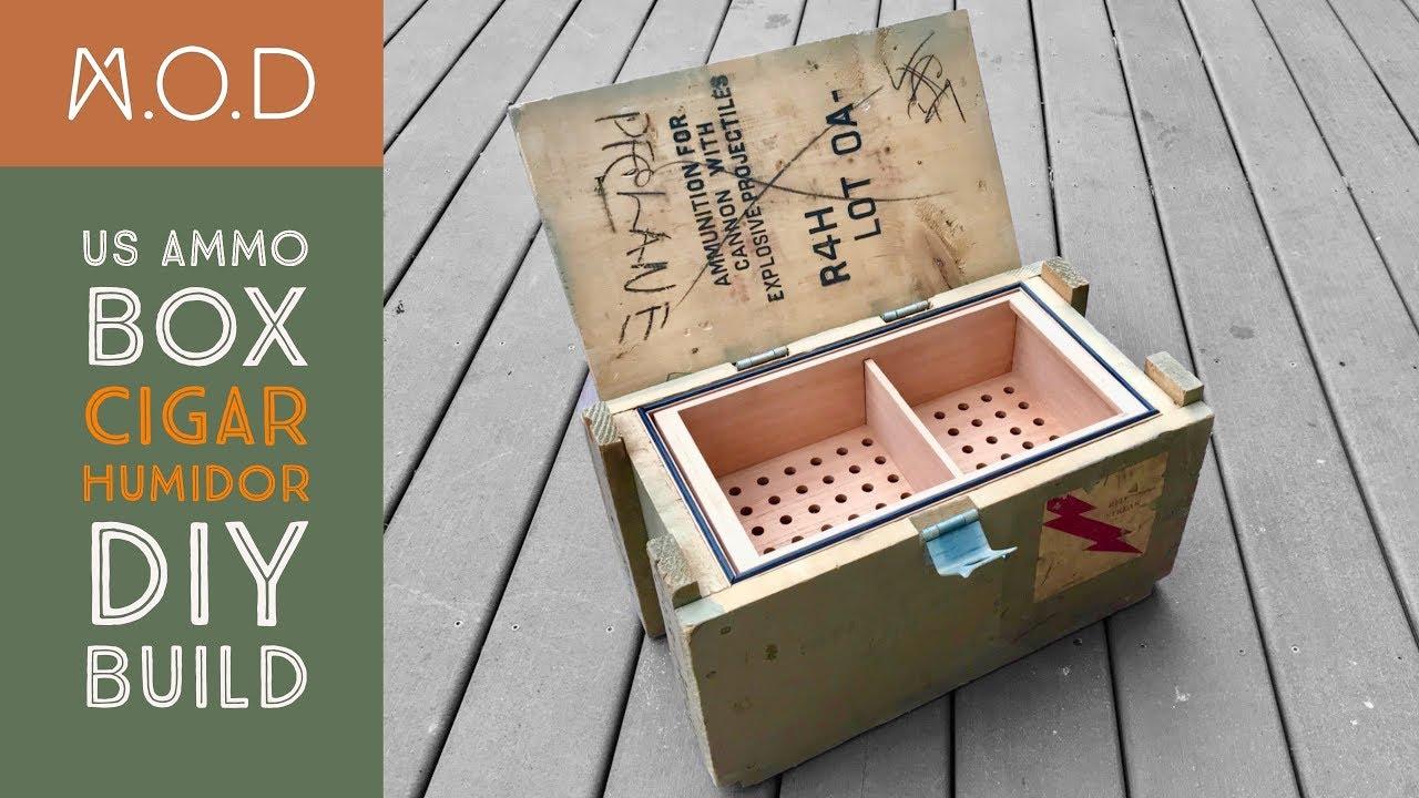 Ammo Case Cigar Humidor Build DIY - YouTube