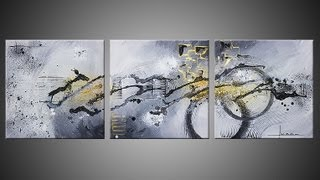 Repeat youtube video Abstract acrylic painting demo video - Ulex Minor by John Beckley