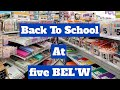 FIVE BELOW BACK TO SCHOOL SUPPLIES 2020 | SHOP WITH ME WITH PRICES | BECKY BUFORD
