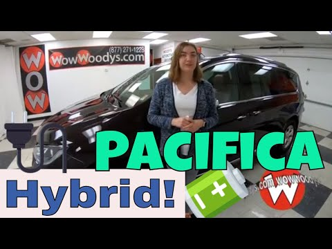 2018 Chrysler Pacifica Hybrid 18JH55 Review | Video Walkaround | Used Vans for Sale at WowWoodys