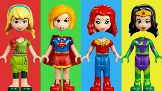 LEGO Superhero Girls Wrong Heads Nursery Rhymes Finger Family Song Kids Learning Colors