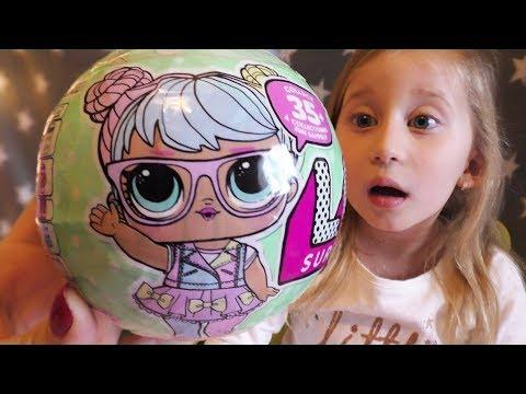 Sonjina prva lutkica kuglica LOL 7 iznenadjenja / LOL Big Sisters Surprise Doll Unboxing Gold Ball