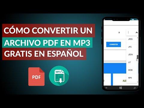 Cómo Convertir un Archivo PDF a MP3 Gratis en Español Online