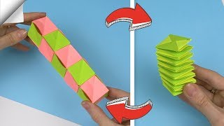 4 DIY crafts easy   Paper toy antistress transformer