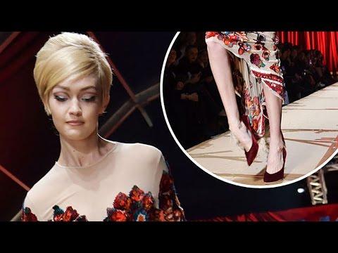 Gigi Hadid Recovers from Milan Fashion Week Runway Stumble Like a PRO